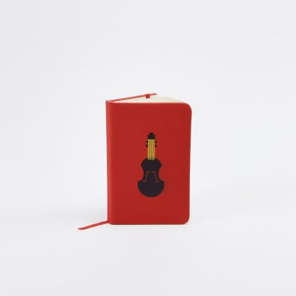 violin red small notebook